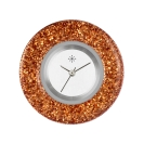 Deja vu watch, jewelry discs, glaze, Gl 51-1, orange brown
