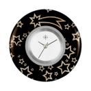 Deja vu watch, jewelry discs, acryl, printed, black-grey-colorful, L 1007