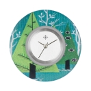 Deja vu watch, jewelry discs, acryl, printed, green-yellow, L 1011