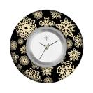 Deja vu watch, jewelry discs, acryl, printed, black-grey-colorful, L 1024