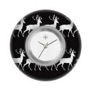 Deja vu watch, jewelry discs, acryl, printed, black-grey-colorful, L 1027
