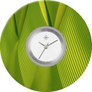 Deja vu watch, jewelry discs, acryl, printed, green-yellow, L 123-2