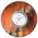 Deja vu watch, jewelry discs, acryl, printed, red-orange, L 129-2