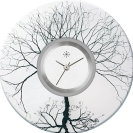 Deja vu watch, jewelry discs, acryl, printed, black-grey-colorful, L 139-3