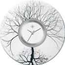 Deja vu watch, jewelry discs, acryl, printed, black-grey-colorful, L 139-3