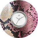 Deja vu watch, jewelry discs, acryl, printed, purple-pink, L 142-2