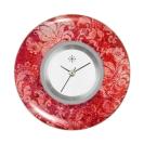 Deja vu watch, jewelry discs, acryl, printed, red-orange, L 221