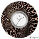 Deja vu watch, jewelry discs, acryl, printed, brown-gold, L 23-2
