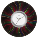 Deja vu watch, jewelry discs, acryl, printed, black-grey-colorful, L 252-3