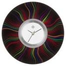 Deja vu watch, jewelry discs, acryl, printed, black-grey-colorful, L 252-3
