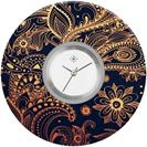 Deja vu watch, jewelry discs, acryl, printed, brown-gold, L 291-3