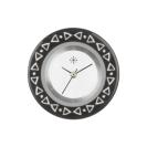 Deja vu watch, jewelry discs, acryl, printed, black-grey-colorful, L 3037
