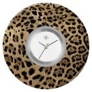 Deja vu watch, jewelry discs, acryl, printed, brown-gold, L 316-2