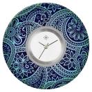 Deja vu watch, jewelry discs, acryl, printed, blue-turquoise, L 321-3