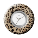 Deja vu watch, jewelry discs, acryl, printed, brown-gold, L 331-2