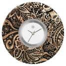 Deja vu watch, jewelry discs, acryl, printed, brown-gold, L 352-2