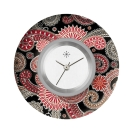 Deja vu watch, jewelry discs, acryl, printed, purple-pink, L 398-2