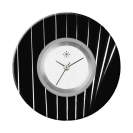 Deja vu watch, jewelry discs, acryl, printed, black-grey-colorful, L 4057