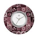 Deja vu watch, jewelry discs, acryl, printed, purple-pink, L 4077