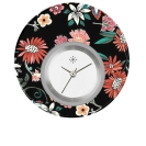 Deja vu watch, jewelry discs, acryl, printed, black-grey-colorful, L 5001
