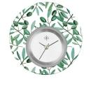 Deja vu watch, jewelry discs, acryl, printed, green-yellow, L 5006