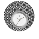 Deja vu watch, jewelry discs, acryl, printed, black-grey-colorful, L 5009