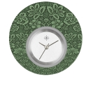 Deja vu watch, jewelry discs, acryl, printed, green-yellow, L 5053