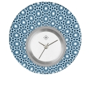 Deja vu watch, jewelry discs, acryl, printed, blue-turquoise, L 5058