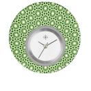 Deja vu watch, jewelry discs, acryl, printed, green-yellow, L 5060