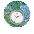 Deja vu watch, jewelry discs, acryl, printed, green-yellow, L 5069