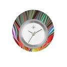 Deja vu watch, jewelry discs, acryl, printed, red-orange, L 6036