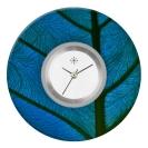 Deja vu watch, jewelry discs, acryl, printed, blue-turquoise, L 7045