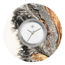 Deja vu watch, jewelry discs, acryl, printed, black-grey-colorful, L 7050
