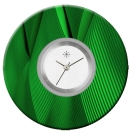 Deja vu watch, jewelry discs, acryl, printed, green-yellow, L 79-2