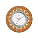 Deja vu watch, jewelry discs, acryl, printed, red-orange, L 8033