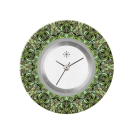 Deja vu watch, jewelry discs, acryl, printed, green-yellow, L 8038