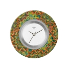 Deja vu watch, jewelry discs, acryl, printed, green-yellow, L 8039