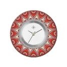 Deja vu watch, jewelry discs, acryl, printed, red-orange, L 8040