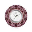 Deja vu watch, jewelry discs, acryl, printed, purple-pink, L 8043