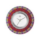 Deja vu watch, jewelry discs, acryl, printed, red-orange, L 8045