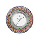 Deja vu watch, jewelry discs, acryl, printed, purple-pink, L 8046