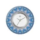 Deja vu watch, jewelry discs, acryl, printed, blue-turquoise, L 8047