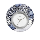Deja vu watch, jewelry discs, acryl, printed, blue-turquoise, L 9006