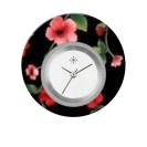 Deja vu watch, jewelry discs, acryl, printed, black-grey-colorful, L 9033