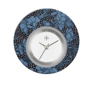 Deja vu watch, jewelry discs, acryl, printed, black-grey-colorful, L 9034