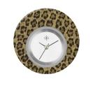 Deja vu watch, jewelry discs, acryl, printed, brown-gold, L 9041