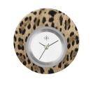 Deja vu watch, jewelry discs, acryl, printed, brown-gold, L 9042