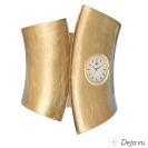 Deja vu watch, barrettes & metalbands, cast bangle, SP-GU 1g, gold