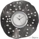 Deja vu watch, jewelry discs, glass, fabric, beads, Gstr 67
