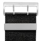 Deja vu watch, watch straps, wide, 40mm, steel closure, Ubb 200, black-rustic
